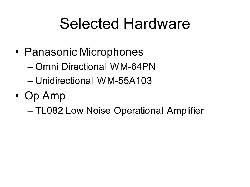Read My Lips Voice Recognition Hardware Development  - ppt