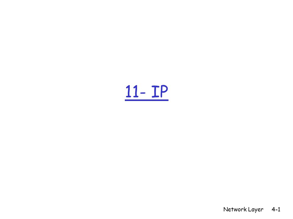 11- IP Network Layer4-1