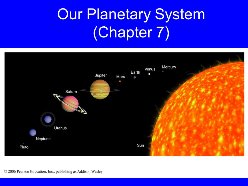 Our Planetary System (Chapter 7)