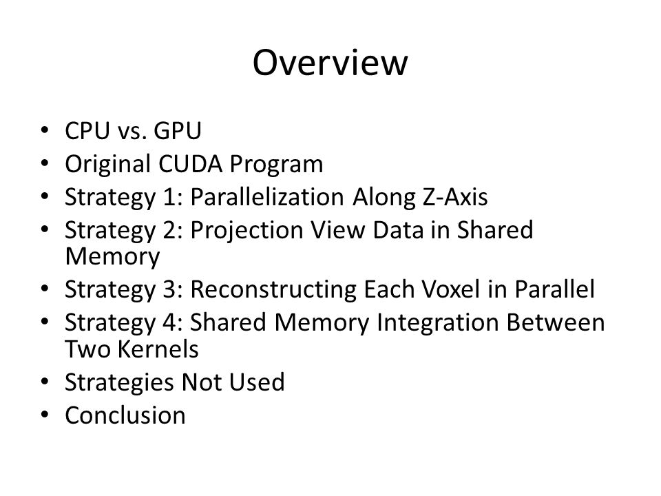 Overview CPU vs.