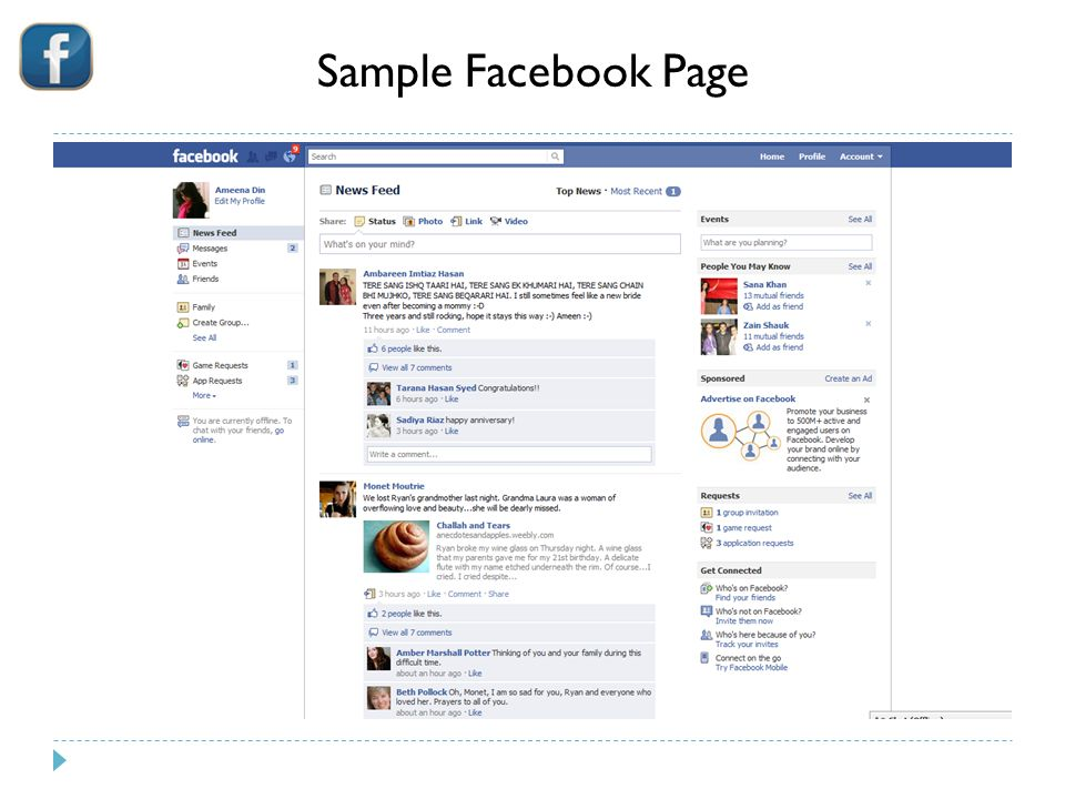 Sample Facebook Page 6