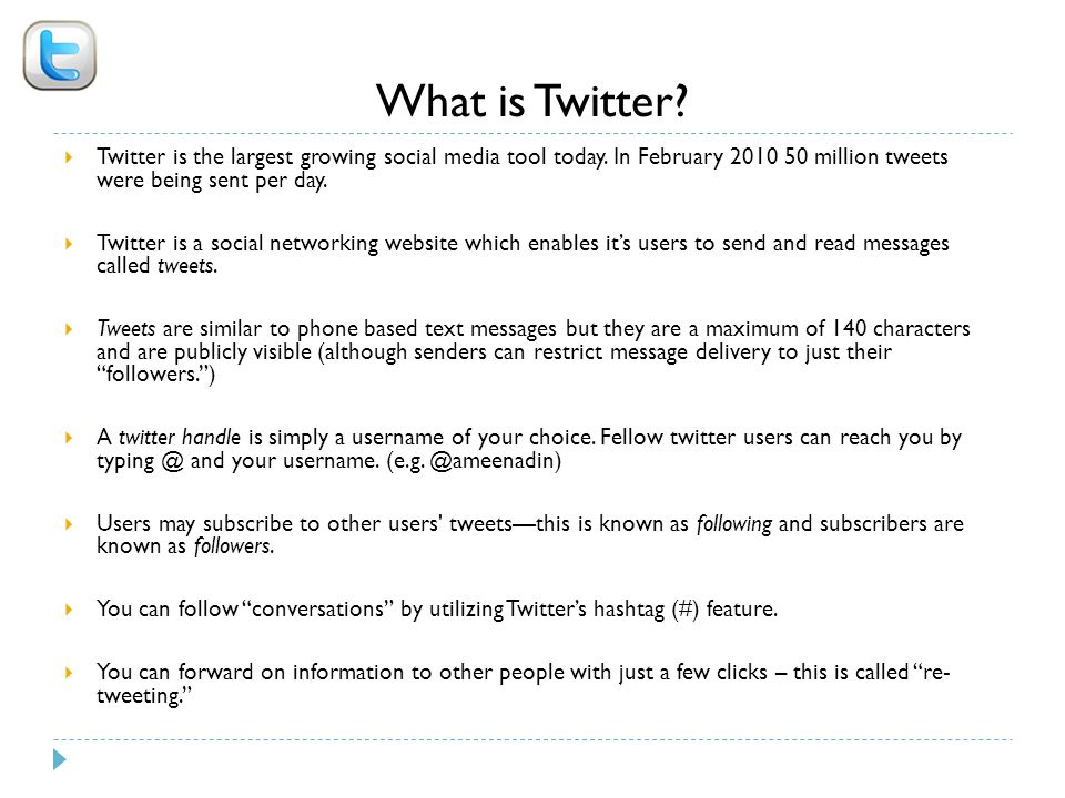 What is Twitter.  Twitter is the largest growing social media tool today.