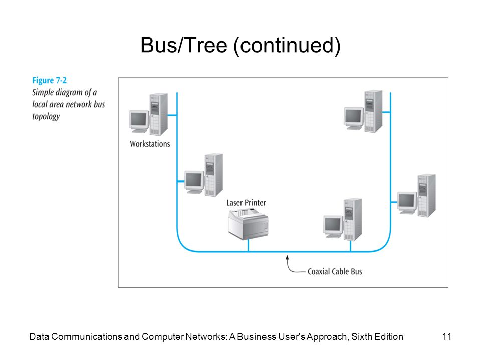 Data Communications and Computer Networks: A Business User s Approach, Sixth Edition11 Bus/Tree (continued)