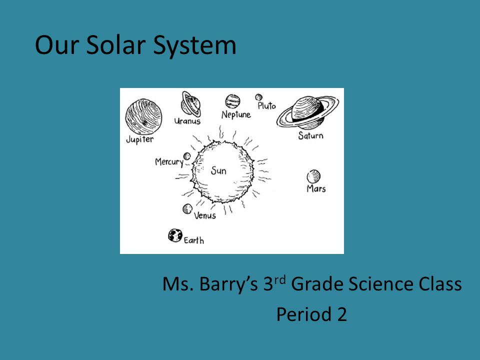 Our Solar System Ms. Barry's 3 rd Grade Science Class Period 2