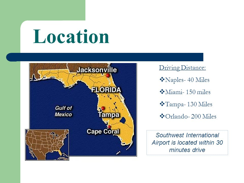 Cape Coral Florida Yellowtail Properties Llc Location Driving