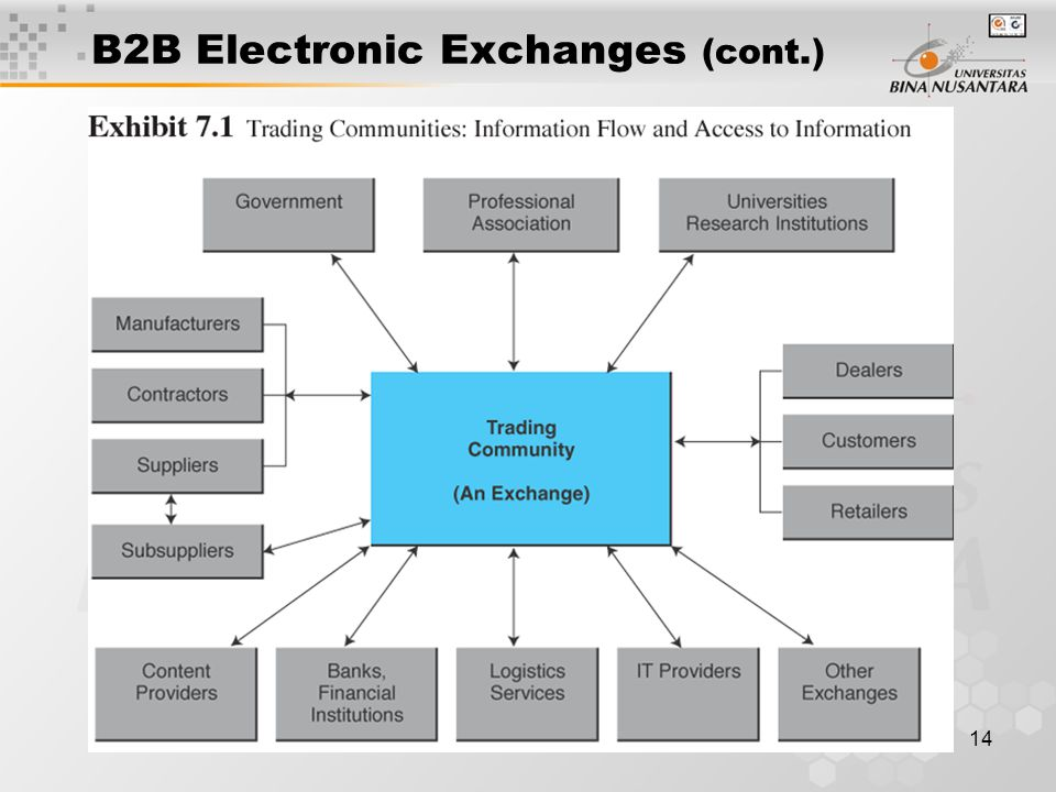 14 B2B Electronic Exchanges (cont.)