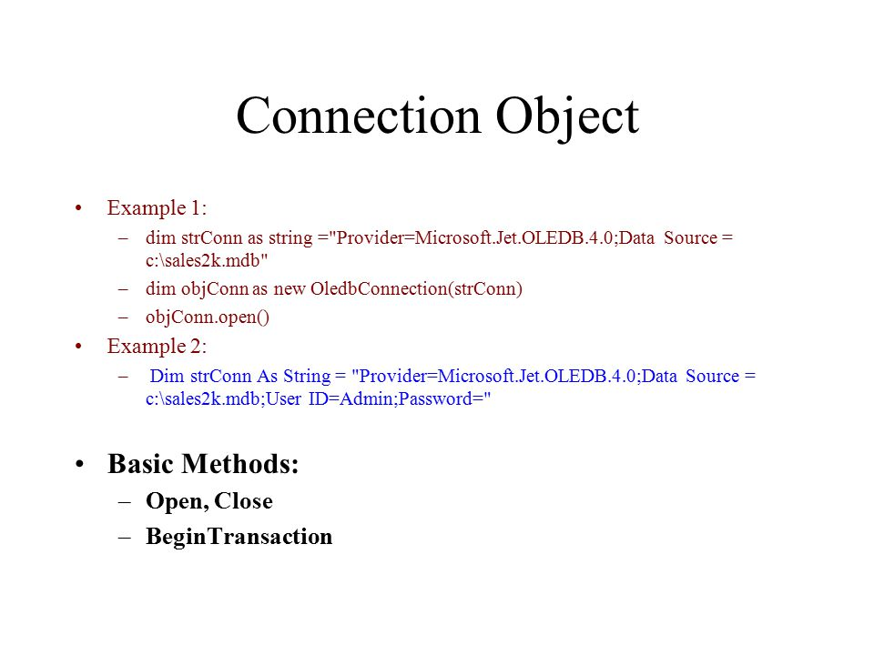 Introduction to ADO NET  ADO NET Objects Data Set NET Applications