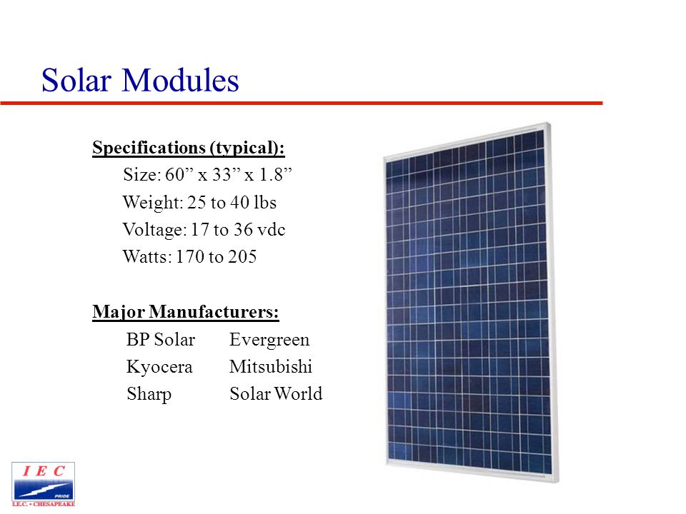 An Introduction to the Solar Electric Market Presented by
