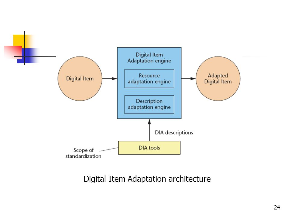 24 Digital Item Adaptation architecture
