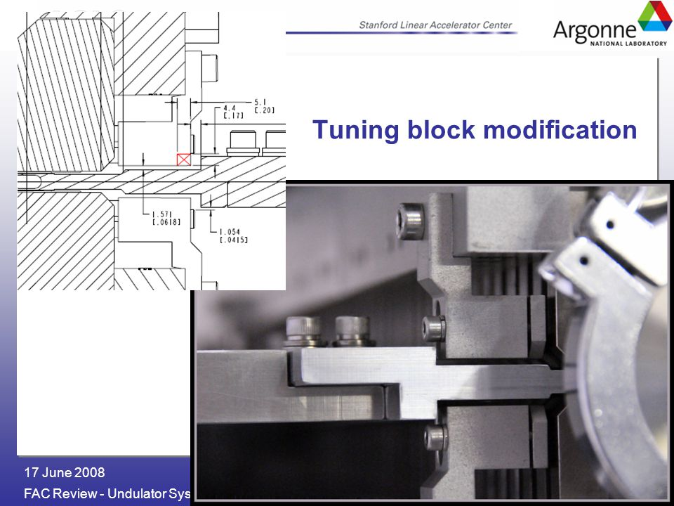 Geoff Pile FAC Review - Undulator 17 June 2008 Tuning block modification