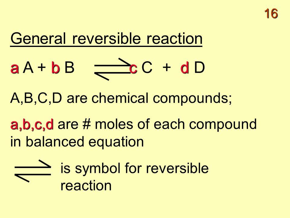 1 Reversible Reactions Equilibrium Reversible Reaction A