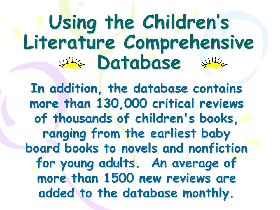 Childrens literature review database essay on vicarious liability
