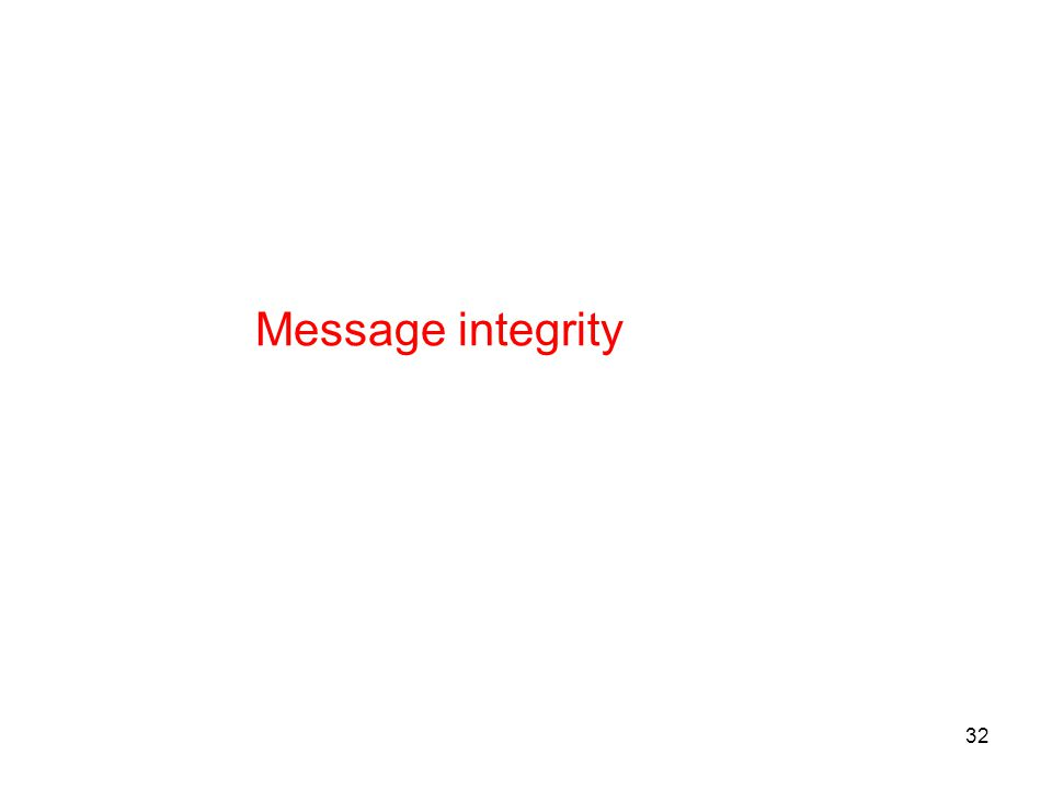 32 Message integrity