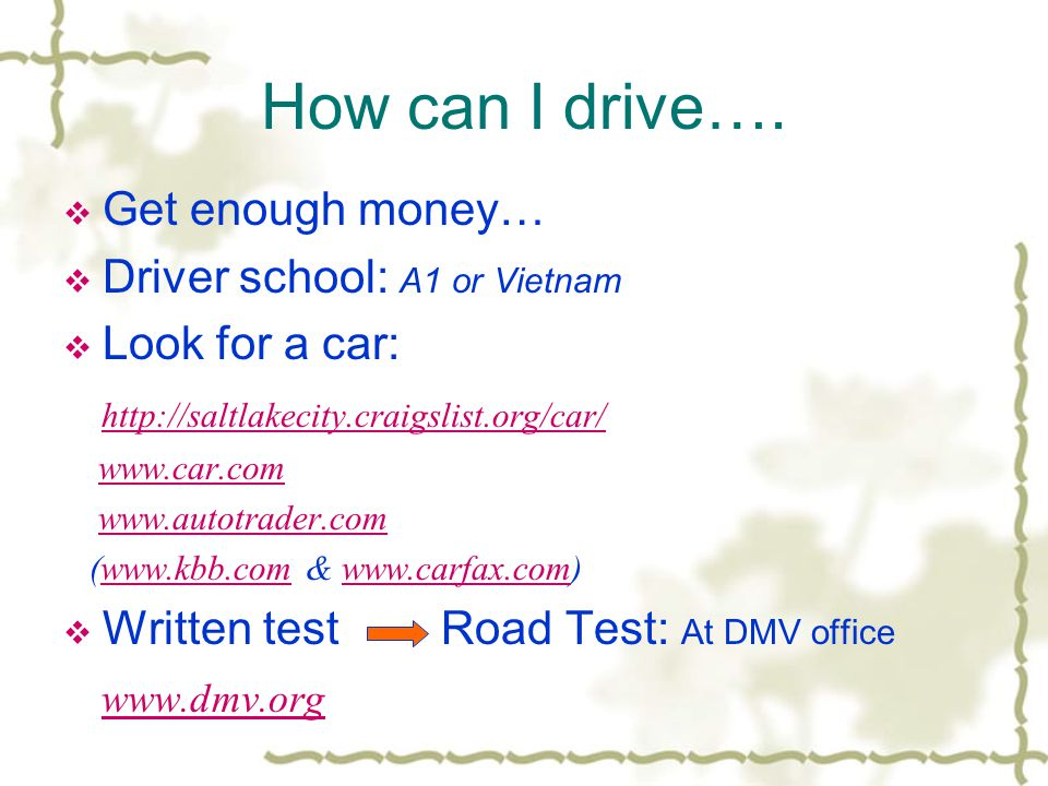 Welcome to Utah ~~   Shopping & Transportation  Driving  - ppt
