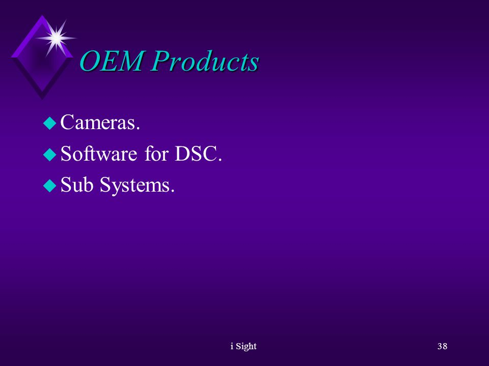 i Sight37 Products - iSC3010/iSC3020 u Adaptive Sensitivity u Motion Detection u Remote Control u Low Light Options.
