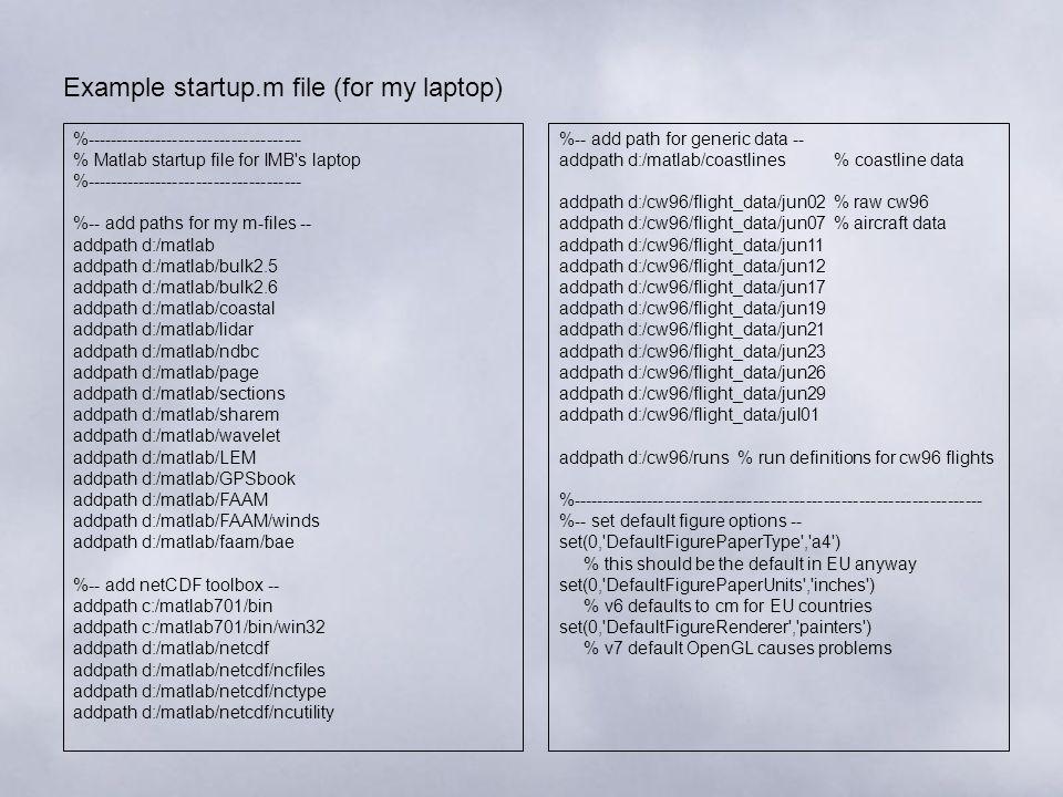 M AT L AB Basics  MATLAB User Environment Workspace/Variable