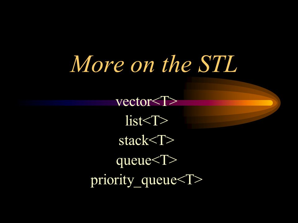 More on the STL vector list stack queue priority_queue