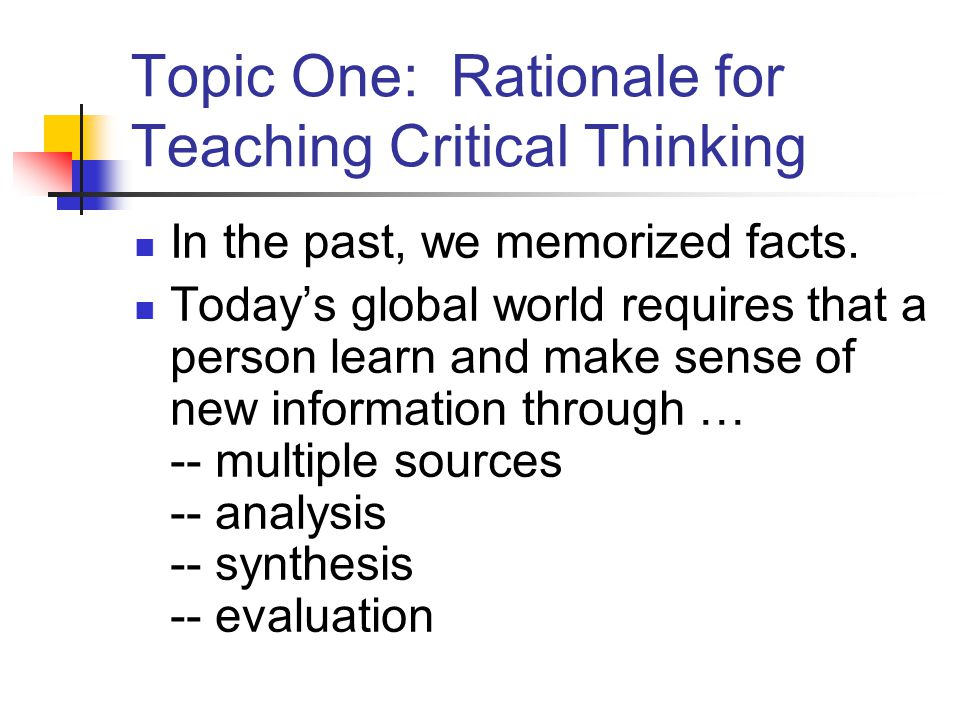 a rationale for teaching the foundation It offers initial teacher education, continuing education, and graduate programs, all  the wallace foundation seeks to support and share effective ideas and.