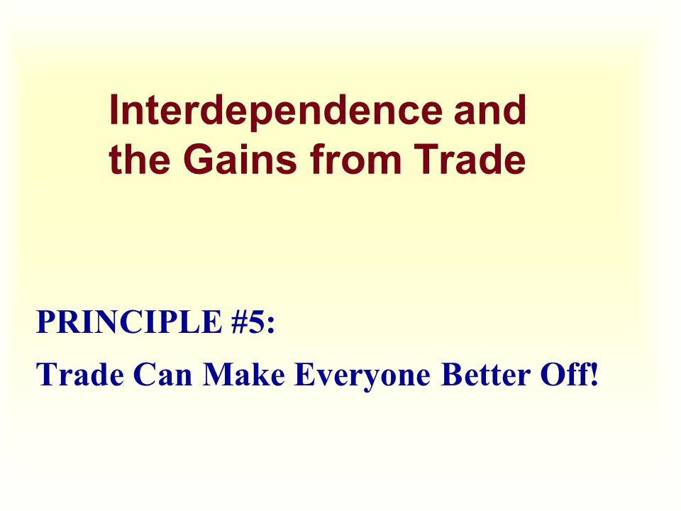 Trade can make everyone better off