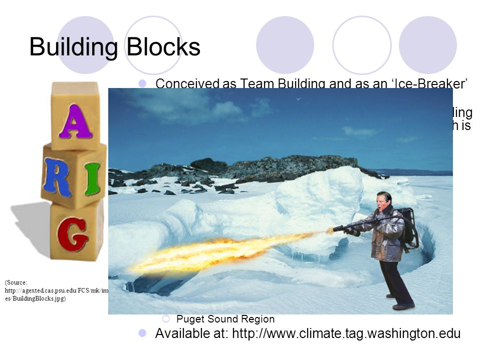 Building Blocks Conceived as Team Building and as an 'Ice-Breaker'  became extended, heated issue.