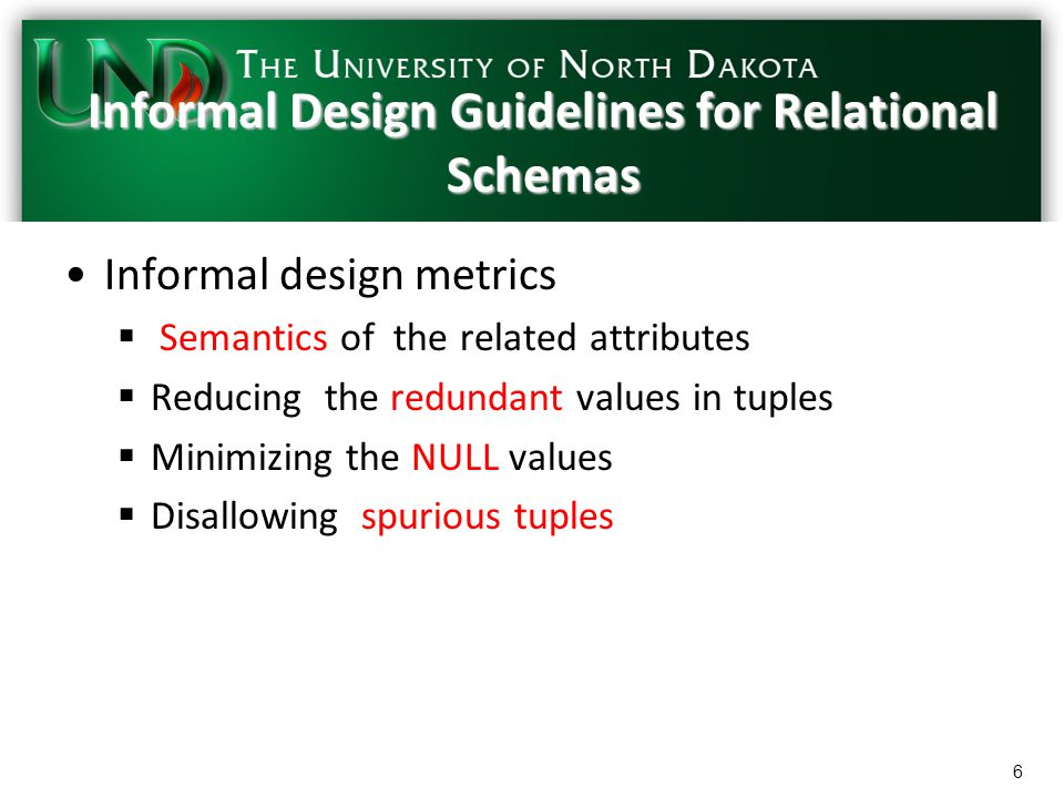 Part 6 Chapter 15 Normalization Of Relational Database Csci455 R Ppt Download