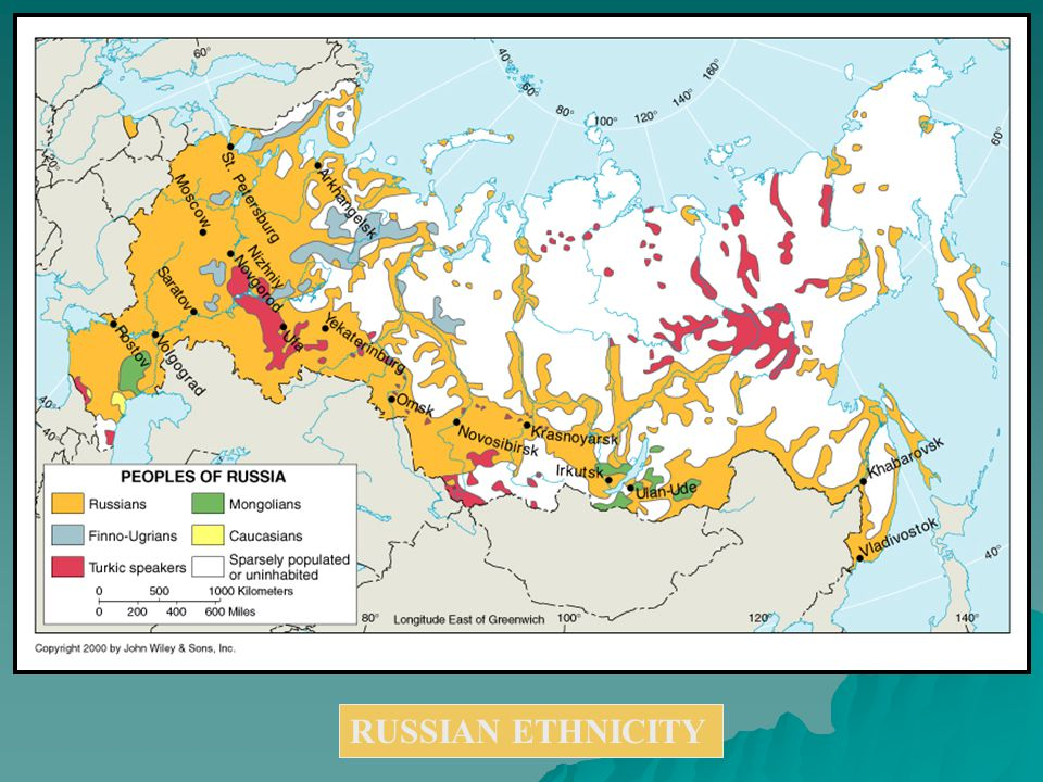 RUSSIAN ETHNICITY Russia III   Geography: Meet the Profs  Map ...