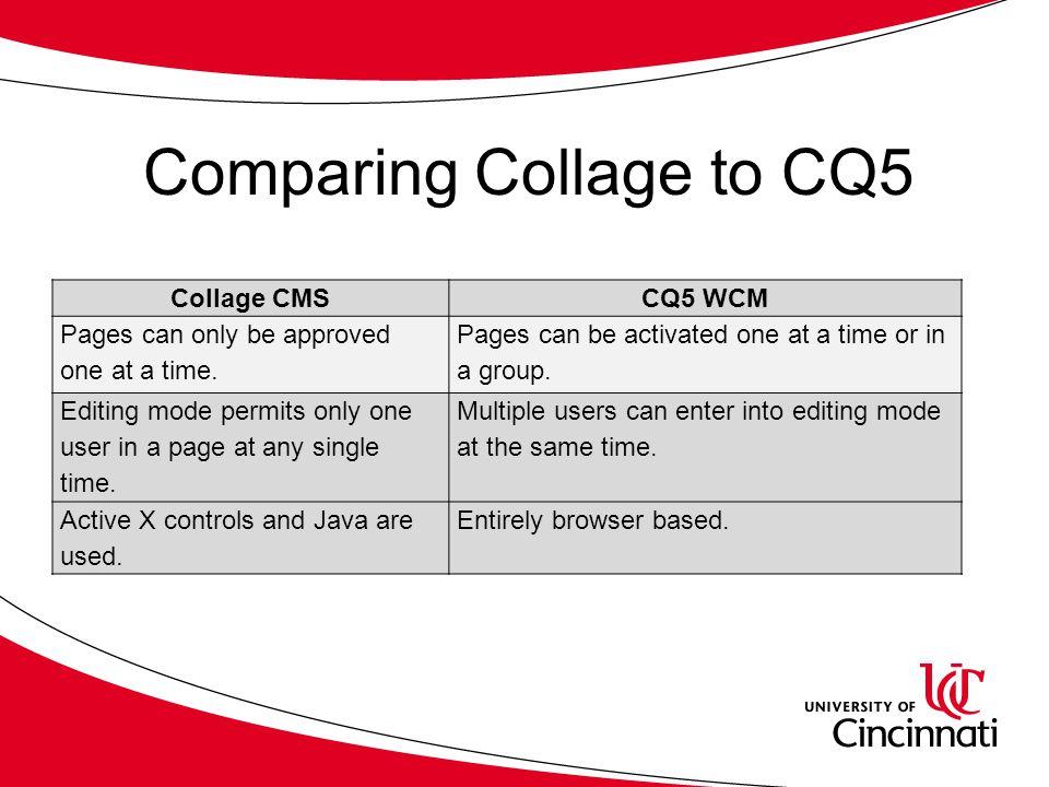 Communiqué 5 (CQ5) WCM Author Training  Course Topics