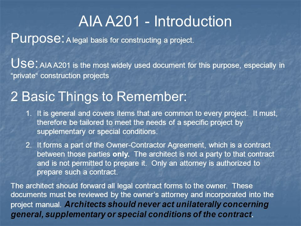 Conditions Of The Contract For Construction AIA A General - Aia construction contract template