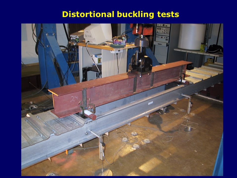 Distortional buckling tests