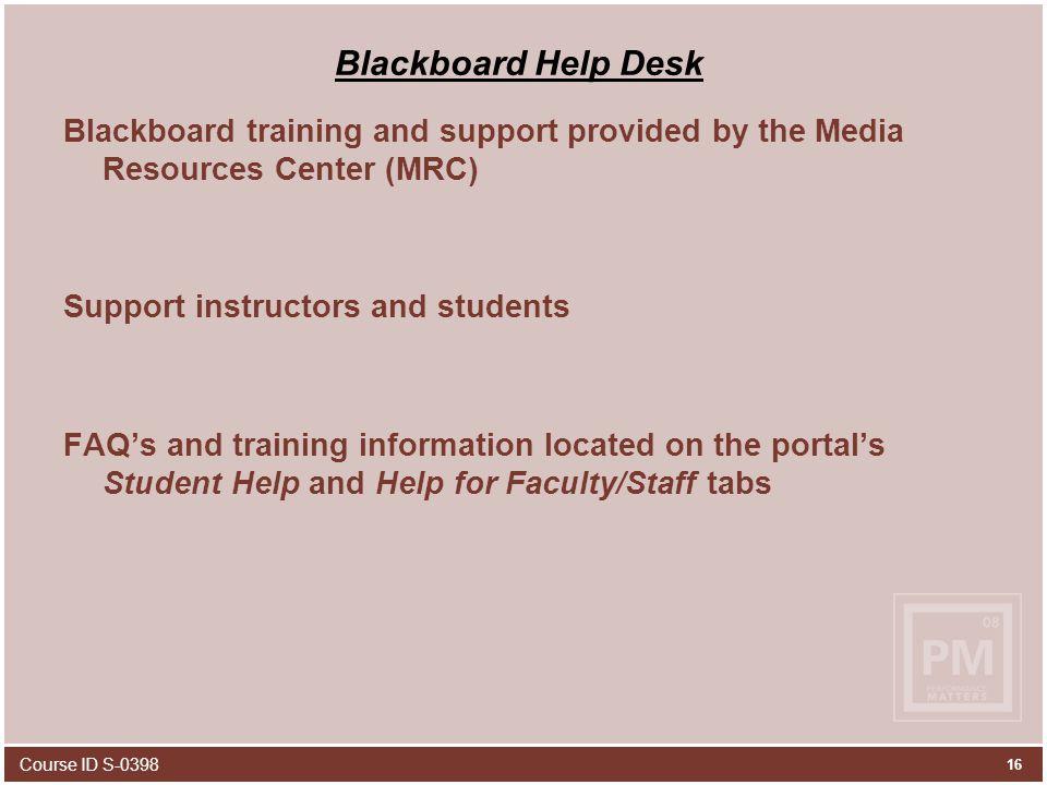 16 Blackboard ...