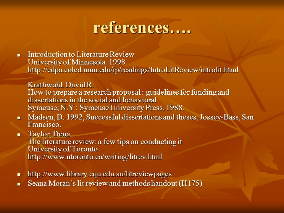 introduction literature review thesis In the case of a literature review, you are really creating a new forest, which you will build by using the trees you found in the literature you read create a topic outline that traces your argument: first explain to the reader your line or argument (or thesis) then your narrative that follows should explain and justify your line of argument.