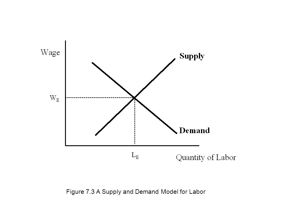 Figure 7.3 A Supply and Demand Model for Labor