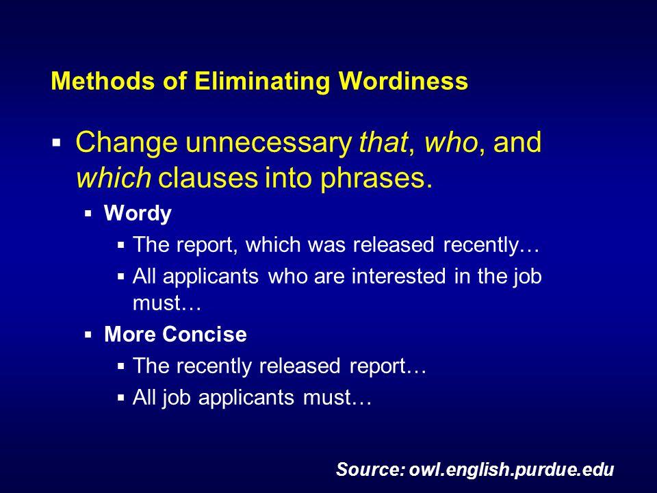 purdue owl eliminating wordiness