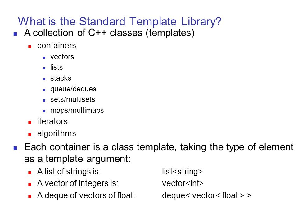What Is The Standard Template Library