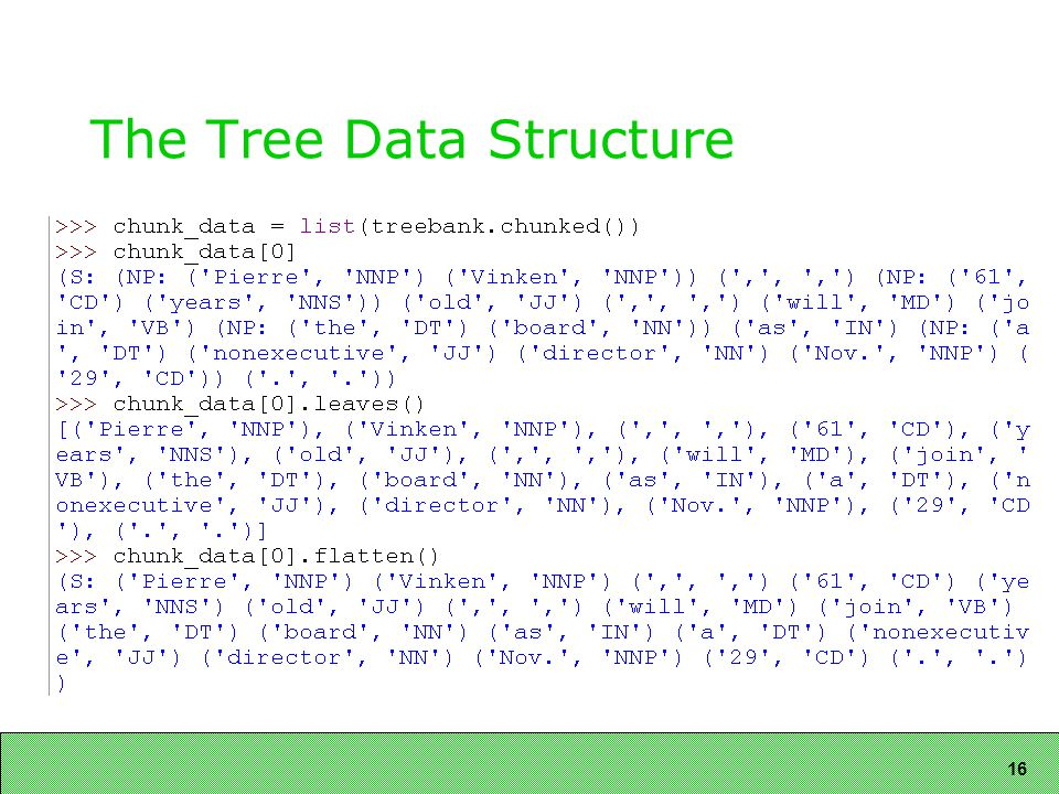 16 The Tree Data Structure