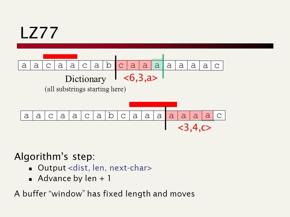Web Algorithmics Dictionary-based compressors  LZ77