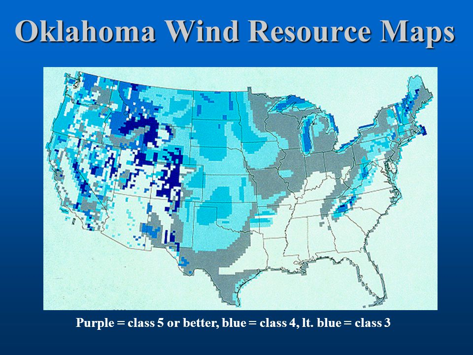 Oklahoma Wind Map.Oklahoma Wind Power Initiative Owpi Tim Hughes Ou Mark Shafer