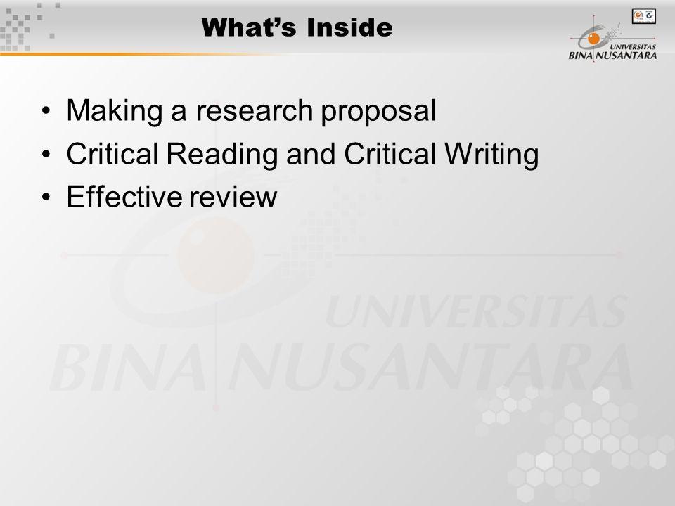 making a research proposal