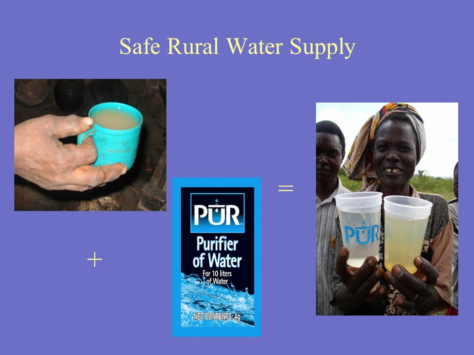 Safe Rural Water Supply = +