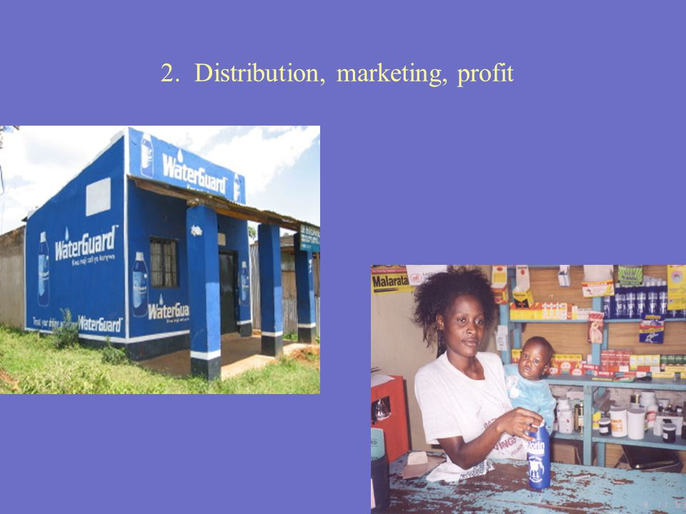 2. Distribution, marketing, profit