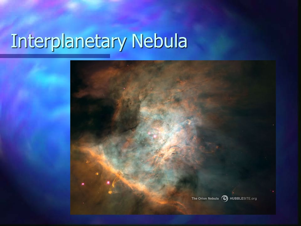 Interplanetary Nebula