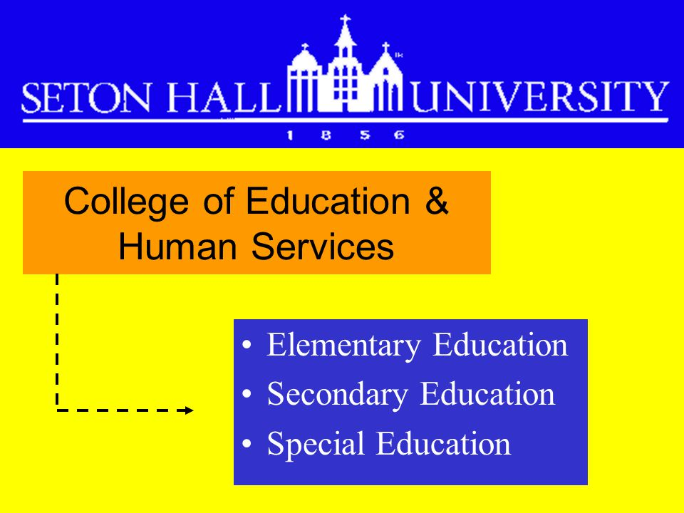 Elementary Education Secondary Education Special Education College of Education & Human Services
