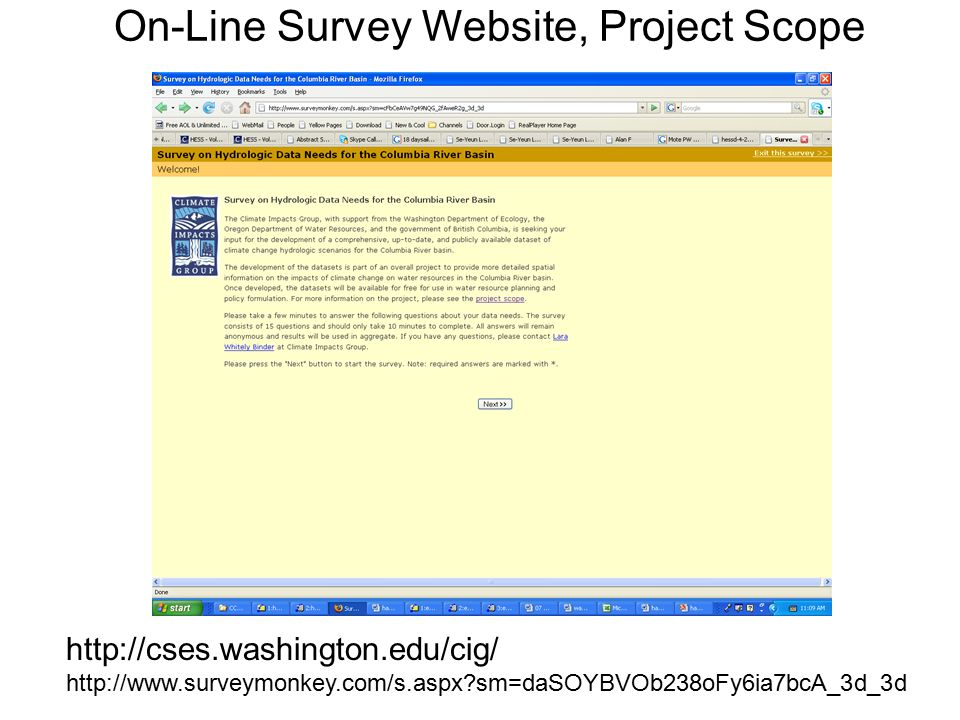 On-Line Survey Website, Project Scope     sm=daSOYBVOb238oFy6ia7bcA_3d_3d