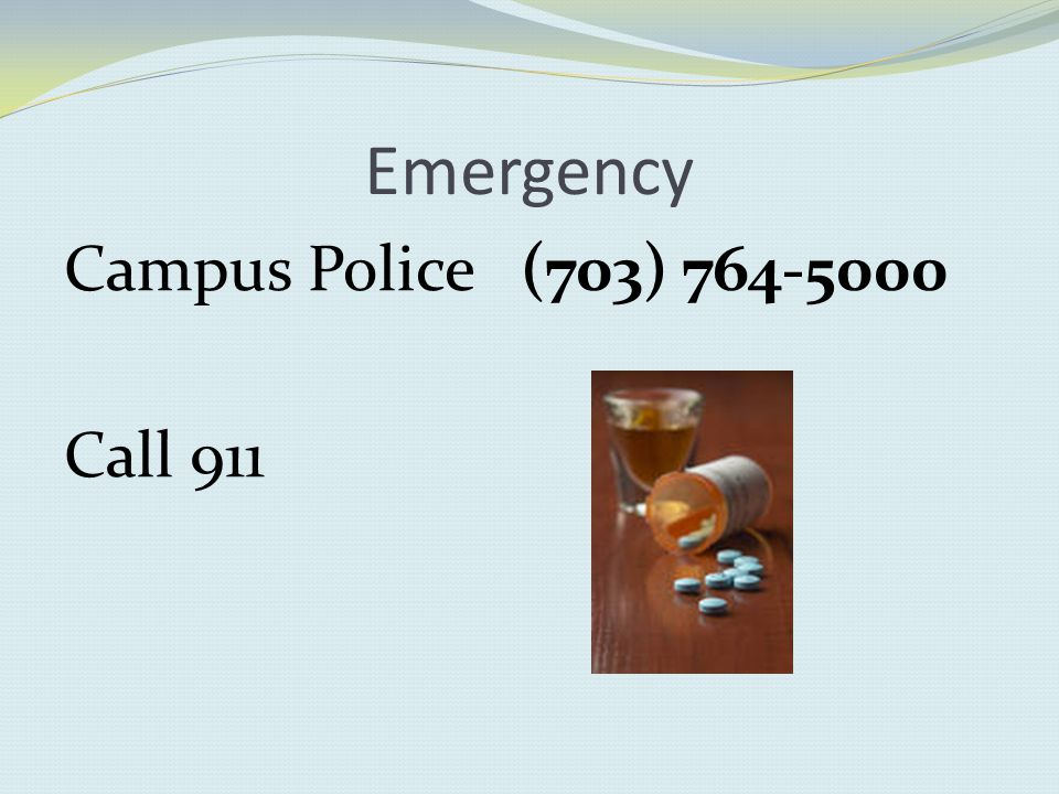 Emergency Campus Police (703) Call 911