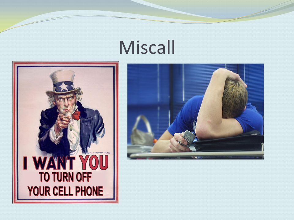 Miscall Cell phone