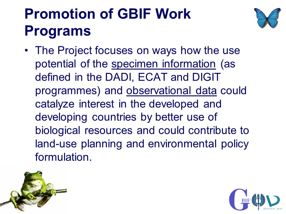 GBIF demo project by Biota BD Ltd & the University of Turku