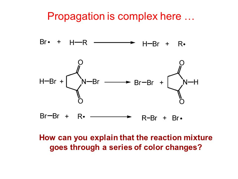 The Reactions In Our Exp 3 Nbs Bromination Are Radical Reactions
