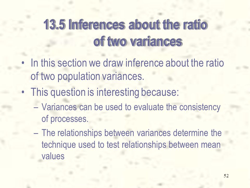 51 Checking the required conditions for the paired observations case The validity of the results depends on the normality of the differences.