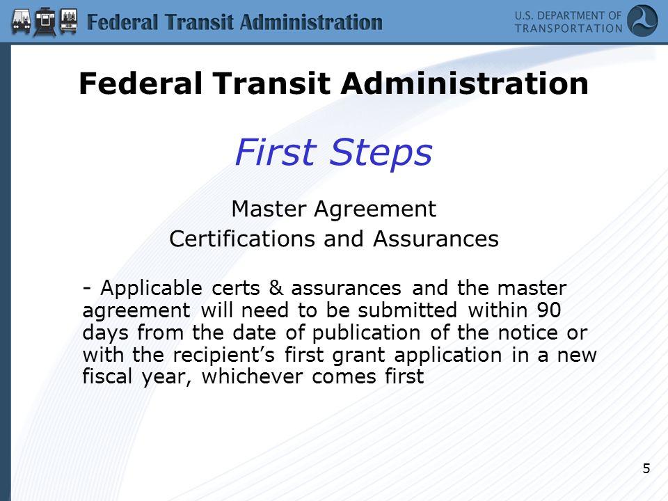 1 Fta Grant Process Technical Assistance Federal Transit
