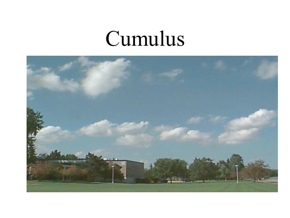 Fair Weather Cumulus Appearance of floating cotton Lifetime of 5 – 40 minutes